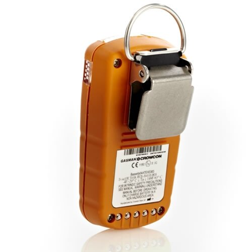 Pocket clip on the Crowcon Gasman Detector ensures you are covered whilst working without it getting in the way