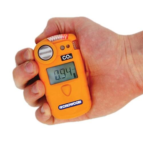 Small hand held and durable, the Crowcon Gasman CO2 Portable Gas Detector