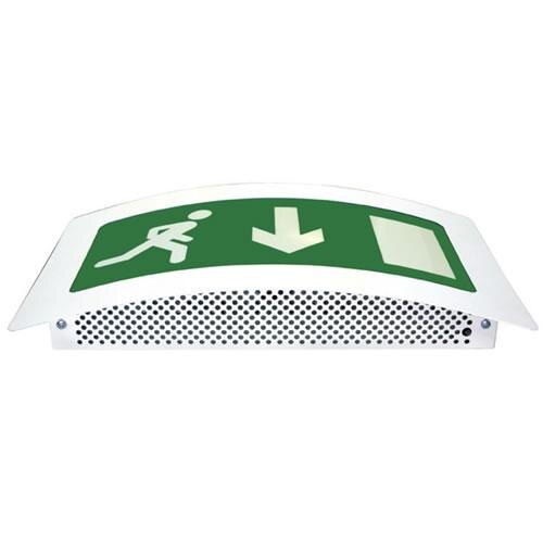 Curved Emergency Fire Exit Sign (Fire Exit Box) Slave Unit - ESS/SL