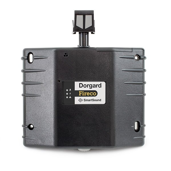 Dorgard SmartSound fire door retainer in black