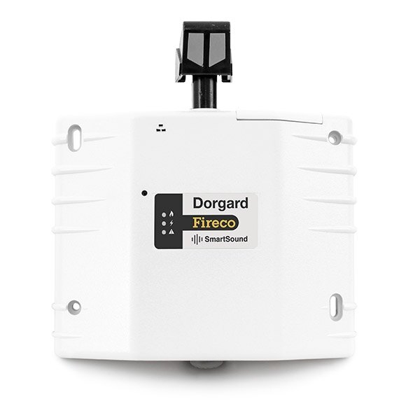 Dorgard SmartSound fire door retainer in white