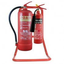 Image of the Double Red Metal Extinguisher Stand - Ultrafire