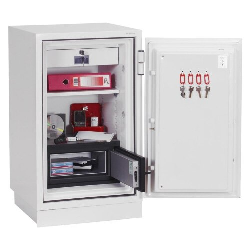 Safe comes complete with height adjustable shelf and lockable drawer