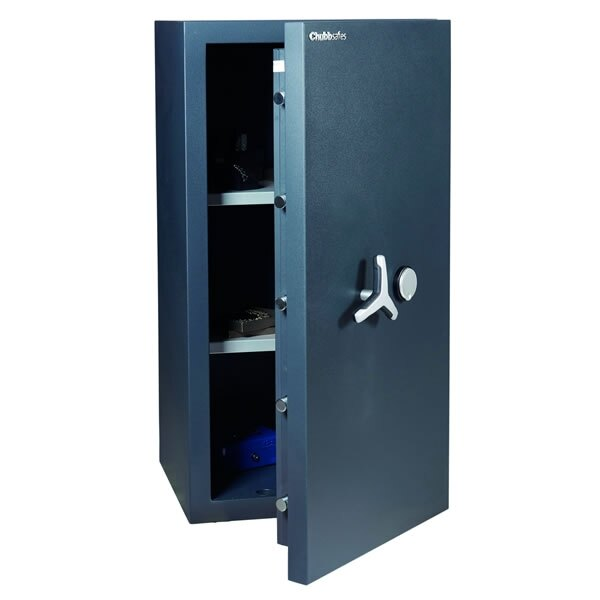 Chubbsafes DuoGuard 200 comes with two adjustable shelves