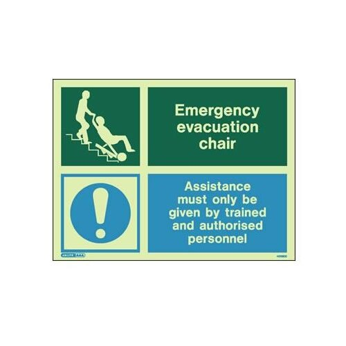 Evacuation chair sign for Evacuation label template