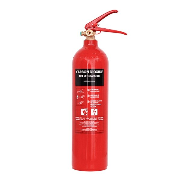 Refurbished CO2 fire extinguisher - Environmentally friendly replacement for existing extinguishers
