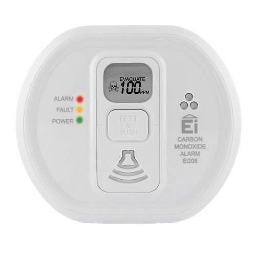 Carbon Monoxide Alarm with Optional Digital Display - Long Life Lithium Battery - Ei208
