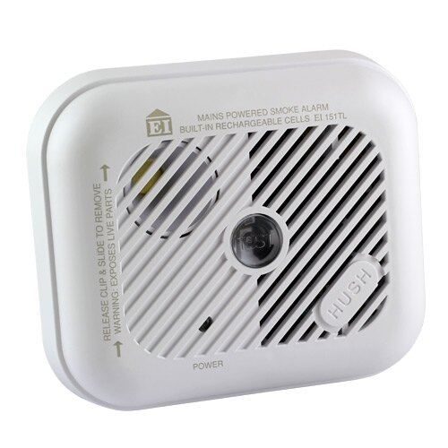 230V Ionisation Smoke Alarm with Lithium Back-up Battery Ei151