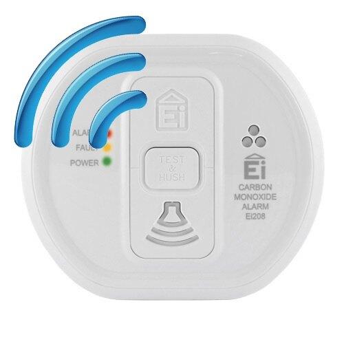 radio interlinked carbon monoxide alarm with optional. Black Bedroom Furniture Sets. Home Design Ideas
