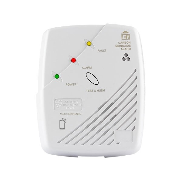 Mains Powered CO Detector with 10 year Lithium Backup Battery - Ei261