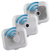 Image of the 9V Radio-Interlinked Smoke and Heat Alarm Starter Kit (Contains 3 Alarms)