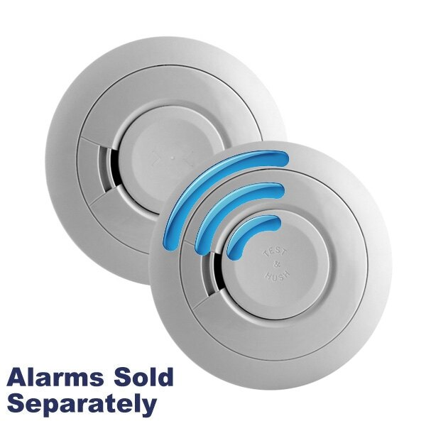 9V Radio-Interlink Smoke & Heat Alarms with Lithium Battery - Ei600RF Series