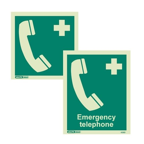 Emergency Telephone Signs