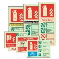 Image of the Fire Extinguisher Wall Signs from Jalite