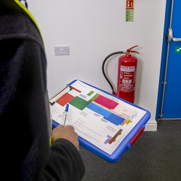Fire extinguisher site survey for Fire alarm log book template