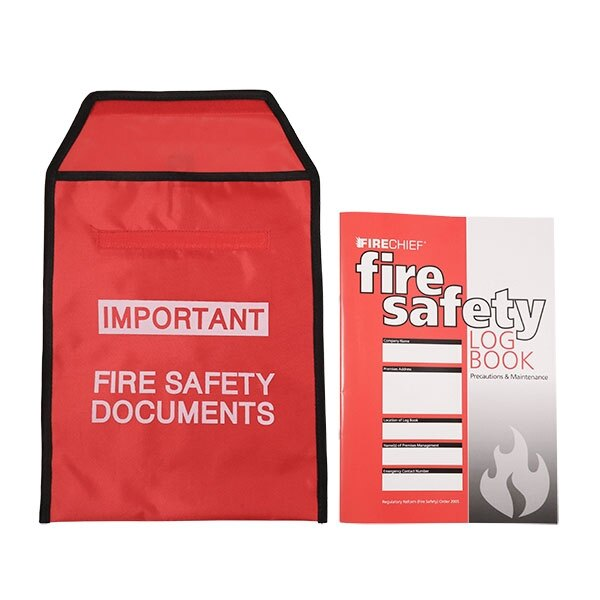 Red Document Pouch for Fire Safety Documents