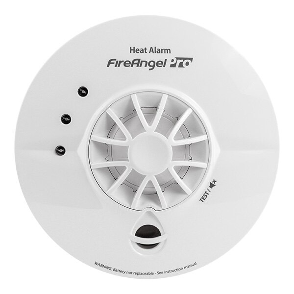 Mains Powered Heat Alarm with Lithium Back-up Battery - FireAngel Pro HT-230
