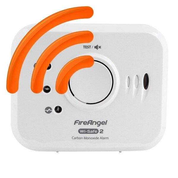 wi safe 2 carbon monoxide detector fireangel w2 co 10x. Black Bedroom Furniture Sets. Home Design Ideas