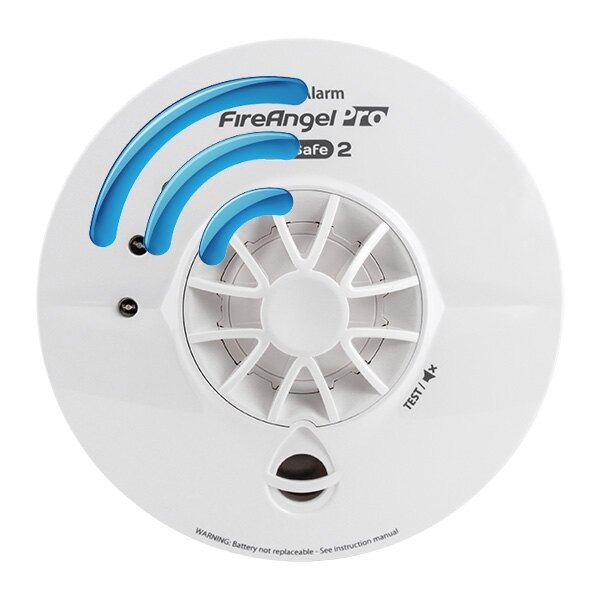 Mains Powered Radio-Interlinked Heat Alarm with Long Life Back-up Battery - FireAngel Pro WHT-230