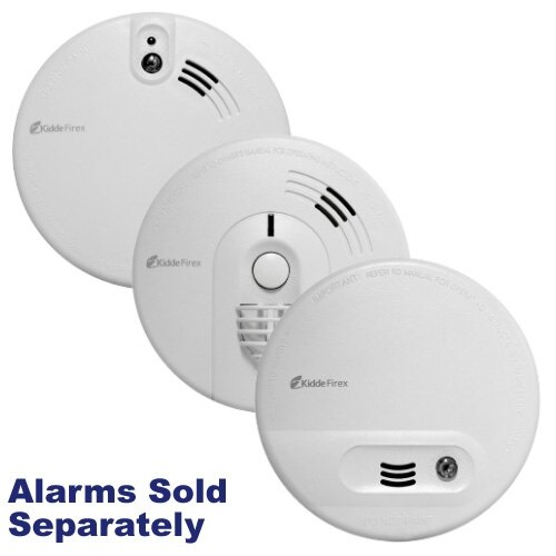 Kidde Mains Powered Alarms with Alkaline Battery Back-up