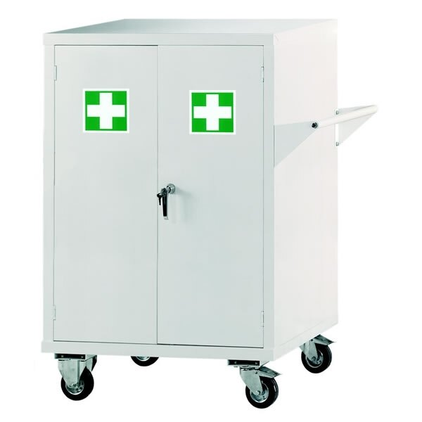 Mobile First Aid Storage Cabinet - Size 2