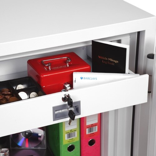 Separate internal lockable drawer to limit access to all users