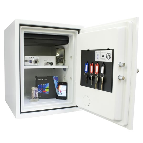 The Phoenix Titan 1283 safe is fitted with one height adjustable shelf