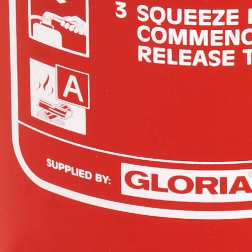 3ltr Water Fire Extinguisher with Additive - Gloria W3DX
