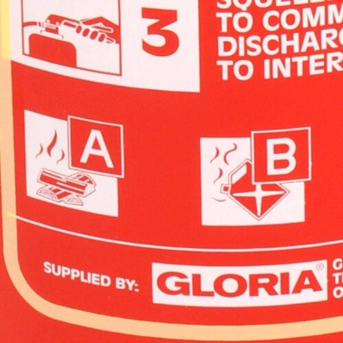 The Gloria 9ltr foam fire extinguisher is Kitemarked and MED approved