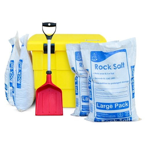 Safelincs winter safety kit - grit bin, de-icing salt and shovel