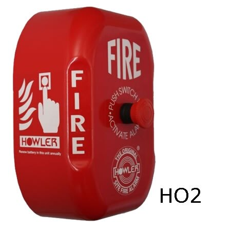 Howler alarm with Push on/Twist off switch