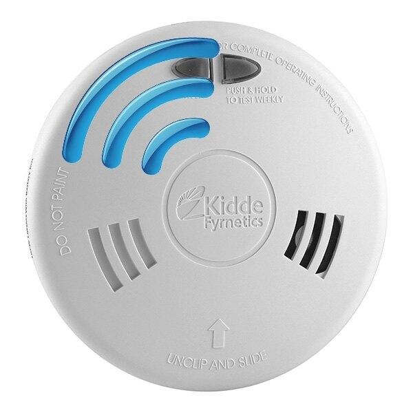 mains radio interlink smoke alarms with alkaline backup kidde slick sfwrf. Black Bedroom Furniture Sets. Home Design Ideas