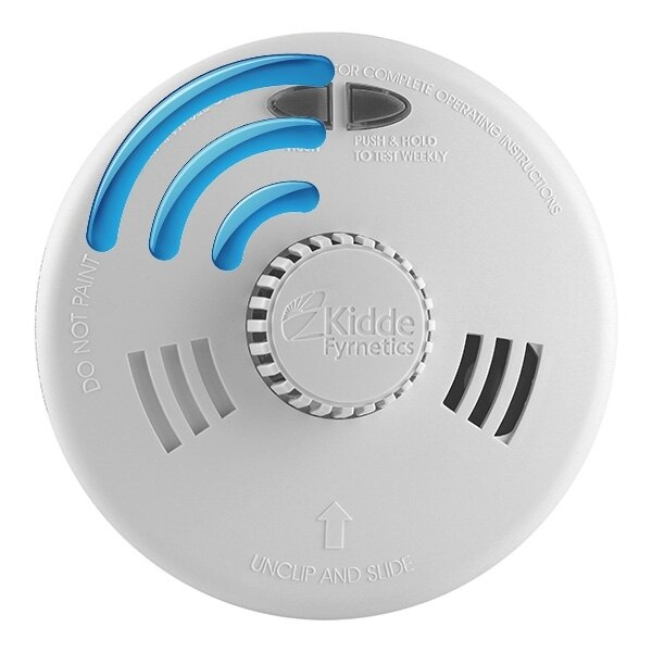 mains radio interlink smoke alarms with lithium backup kidde slick sfllwrf. Black Bedroom Furniture Sets. Home Design Ideas
