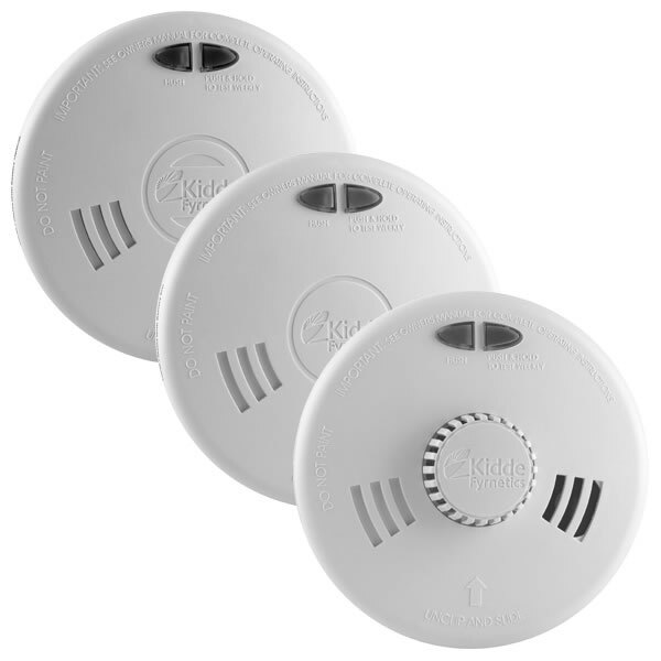 Kidde Slick Mains Powered Smoke Alarms with Alkaline Back-up Battery SFW Series