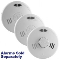 Image of the Kidde Slick Mains Powered Smoke Alarms with Alkaline Back-up Battery SFW Series