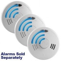 Image of the Mains Radio-Interlink Smoke Alarms with Lithium Backup - Kidde Slick SFLLWRF