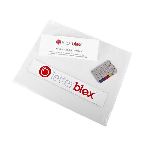 Supplied with ziplock bag for safe storage of original letterplate.