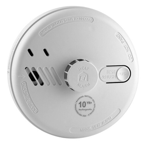 Mains Powered Heat Alarm with Lithium Back-up Battery - Ei164RC