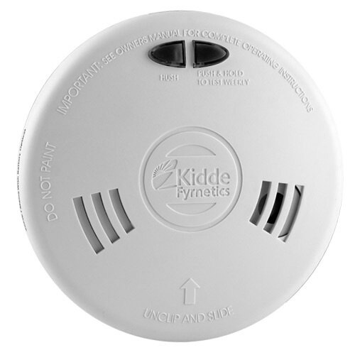 Mains Powered Ionisation Smoke Alarm with Back-up Battery - Kidde Slick 1SFW