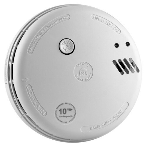 Mains Powered Optical Smoke Alarm with Lithium Back-up Battery - Ei166RC
