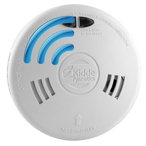Mains Radio-Interlinked Ionisation Alarm with Battery - Kidde Slick 1SFWRF