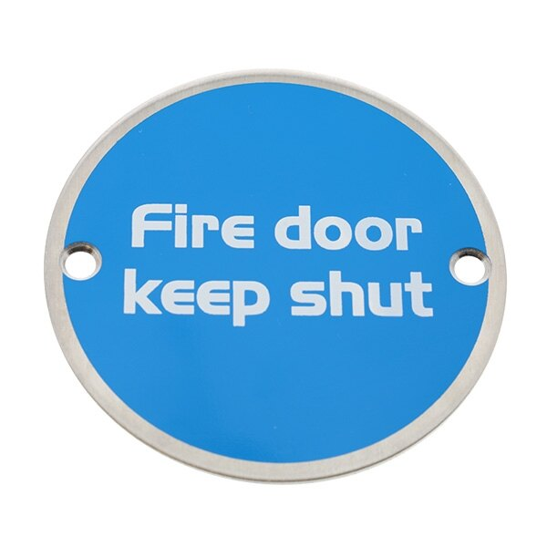 Briton Metal Fire Door Keep Shut Sign