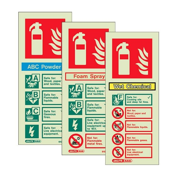 Image of the Photoluminescent P50 Fire Extinguisher Signs