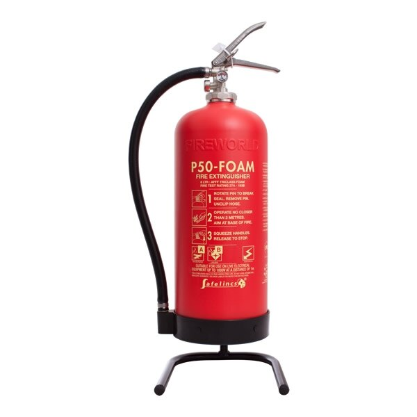 Image of the P50 Single Fire Extinguisher Stand