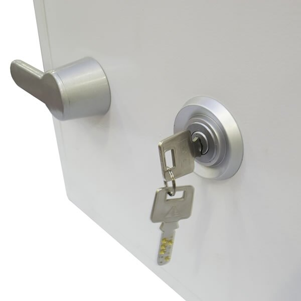 The key lock version is supplied with two keys