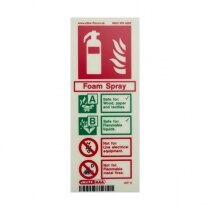 Image of the Photoluminescent Foam Fire Extinguisher Signs