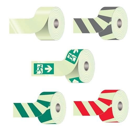 Photoluminescent Self-Adhesive Marker Tapes - 10 Meter Rolls