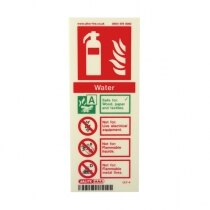 Image of the Photoluminescent Water Fire Extinguisher Signs