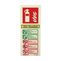 Image of the Photoluminescent Wet Chemical Fire Extinguisher Signs
