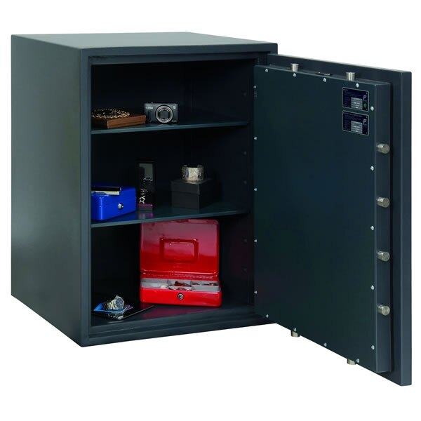 The Primus 190 safe has an overnight insurance rating of �£10,000 cash, �£100,000 valuables